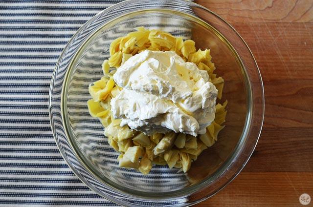 how to make artichoke heart dip