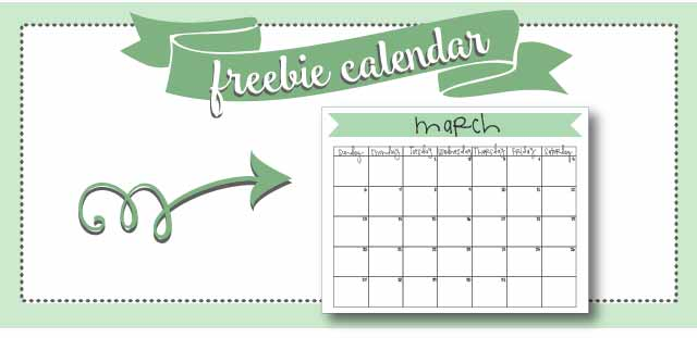 free printable march 2016 monthly calendar!