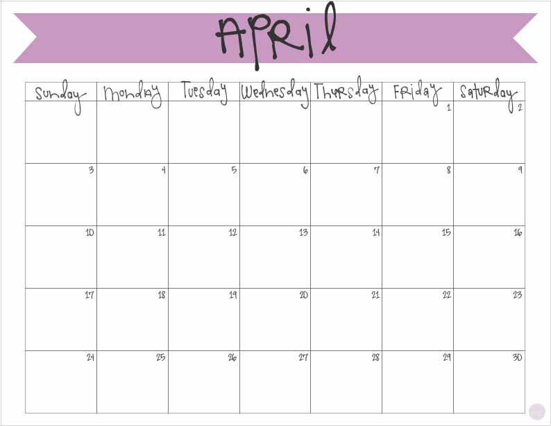 Calendar Kids April : April calendar free printable live craft eat