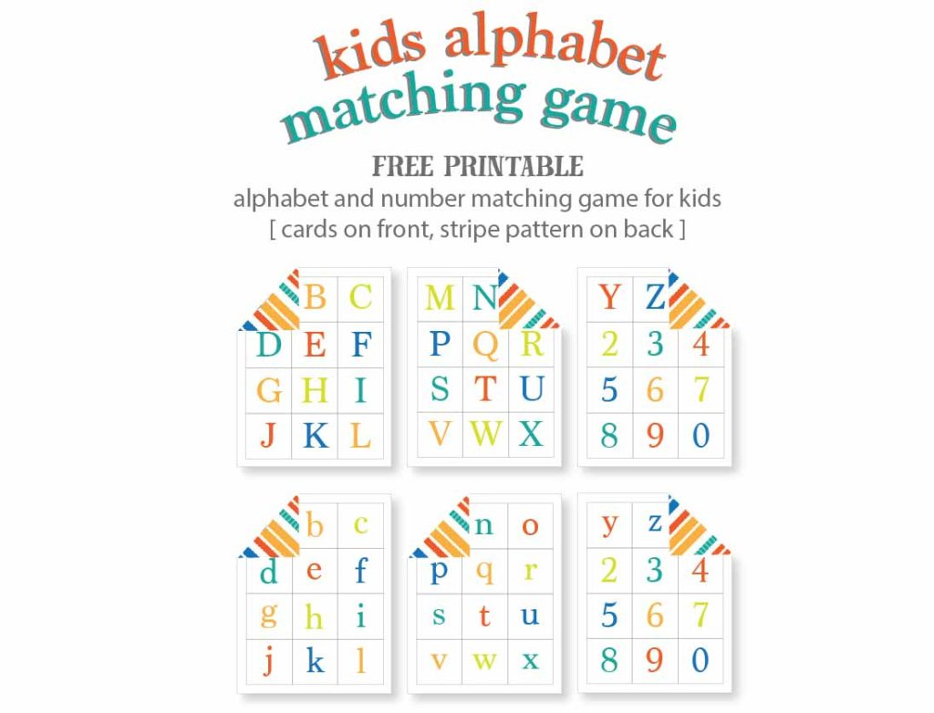 image about Alphabet Matching Game Printable called Young children Alphabet Matching Video game - Totally free Printable Are living Craft Try to eat