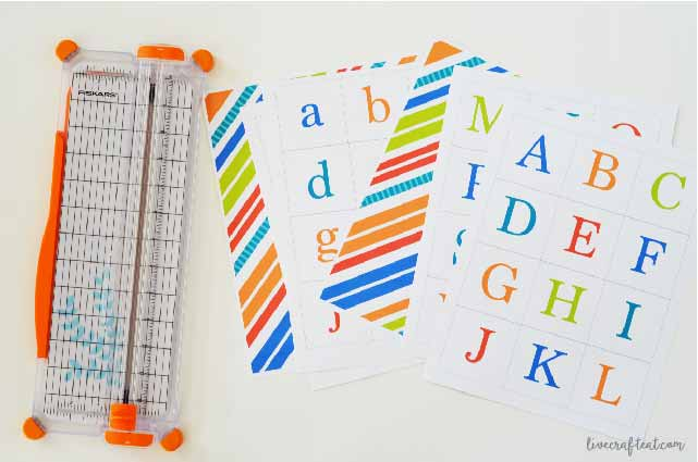 free printable letters and numbers matching game for kids!