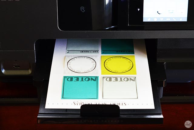 look how easy it is to print onto sticky notes with these free printables!!!