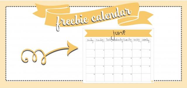 june 2016 :: free printable monthly calendar!