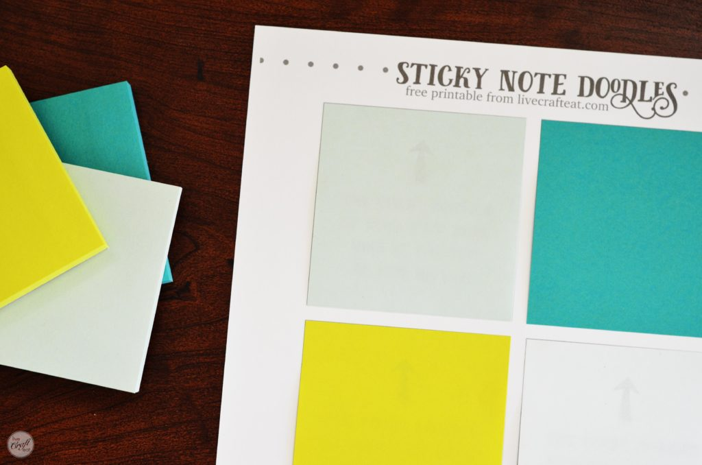 graphic relating to Editable Post It Note Template called Totally free Template For Do it yourself Printable Sticky Notes Are living Craft Try to eat