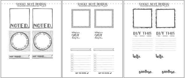 image relating to Notes Printable named Absolutely free Template For Do it yourself Printable Sticky Notes Dwell Craft Try to eat