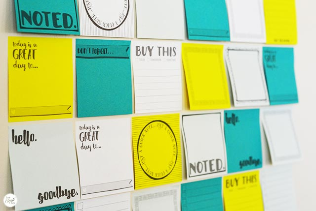 how to organize with post-it notes :: free printables so you can print on them at home!