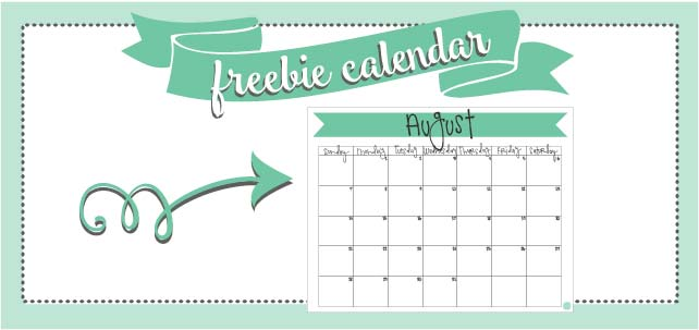 free printable monthly calendars! august 2016