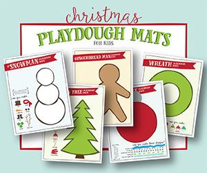 printable playdough mats for kids - a fun christmas activity or gift!