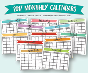 2017 landscape calendar