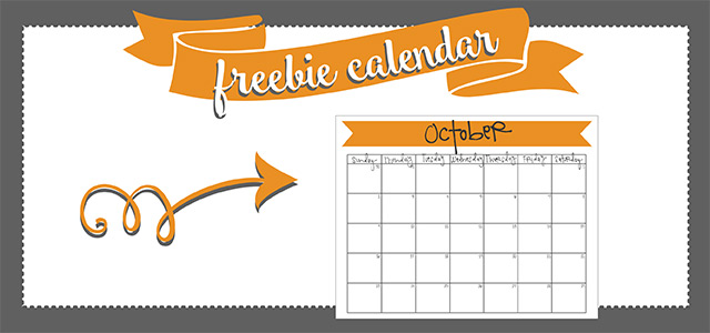 freebie printable! october 2016 calendar