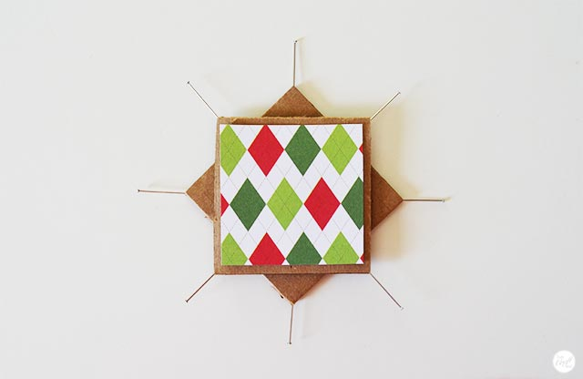 woven star ornament - step 4
