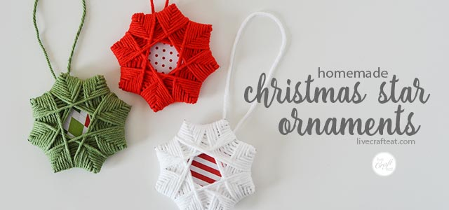 homemade christmas tree star ornaments