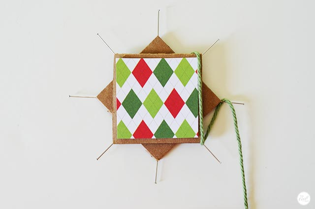 easy woven christmas star - pattern
