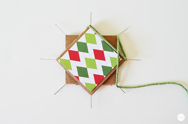 how to make a woven star ornament