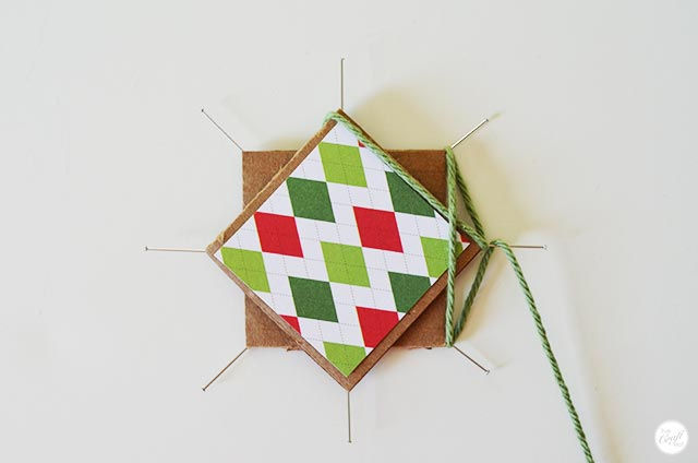 making an easy woven star ornament for christmas. great for kids!