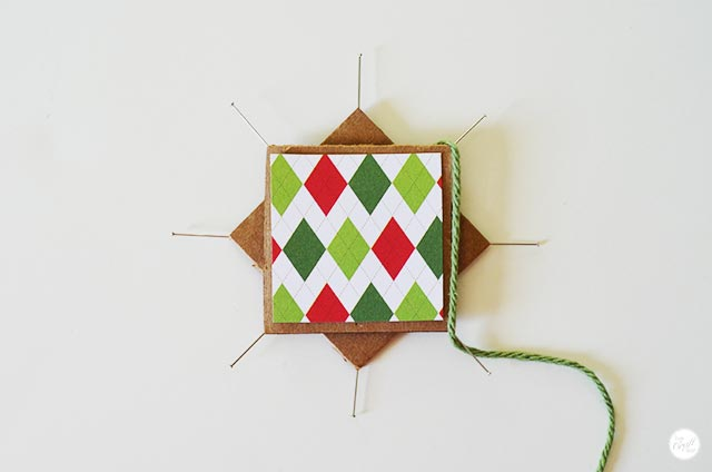 how to make a faux-woven star christmas ornament