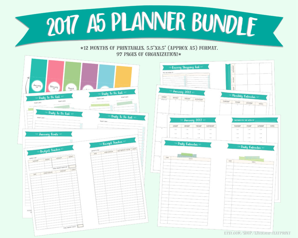 It is a graphic of Sly A5 Planner Printables