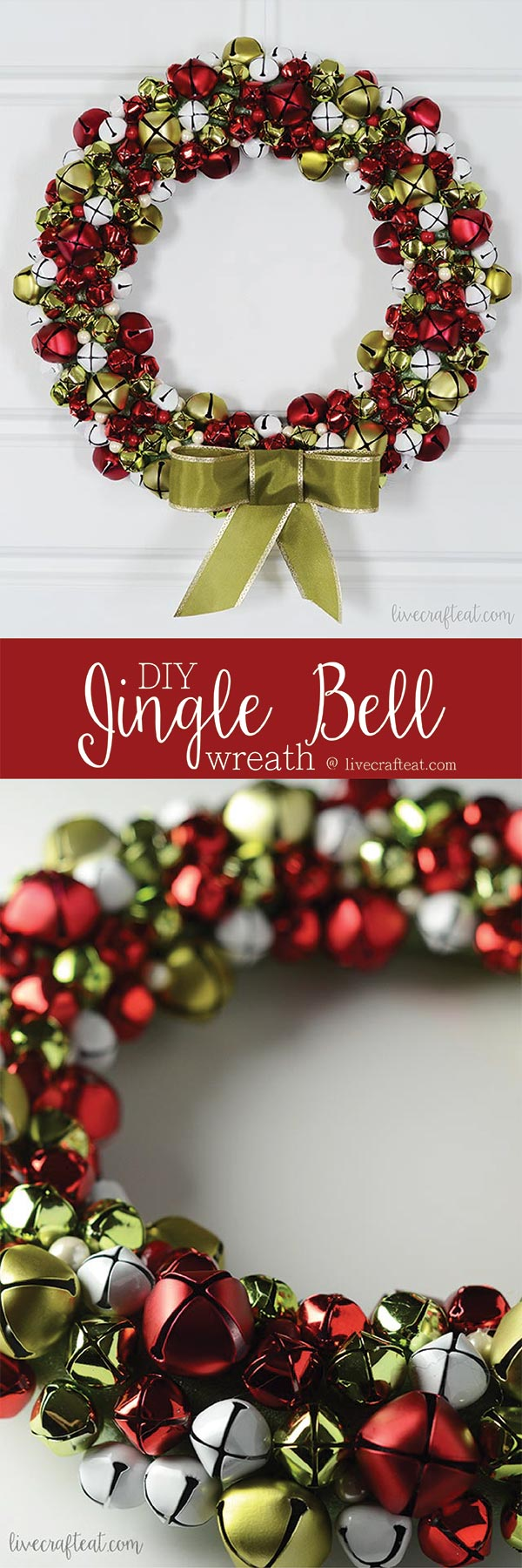 the easiest of christmas wreaths to diy and one that sounds as pretty as it looks!