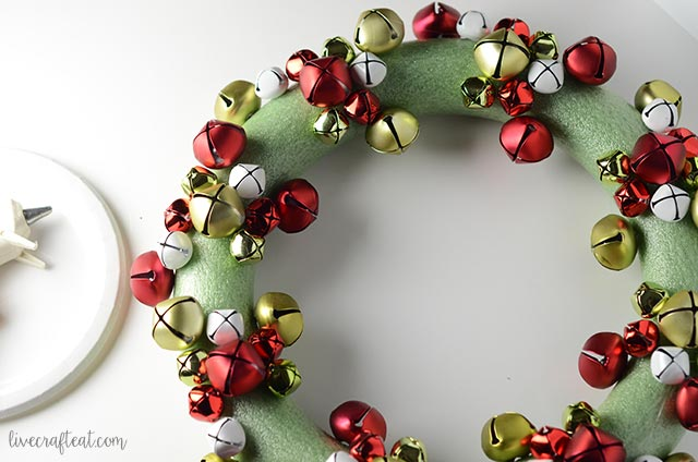 step by step jingle bell wreath