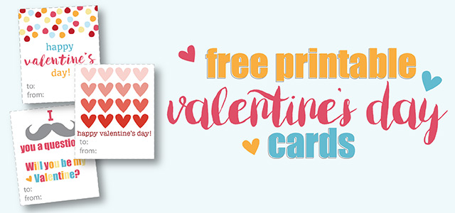 printable valentine's day cards for kids - free printables!!