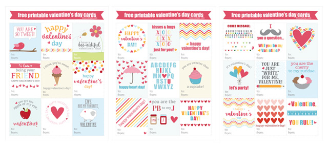 free printable valentine's day cards for kids | live craft eat, Ideas