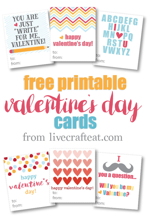 image regarding Printable Valentine Day Cards for Kids called Cost-free Printable Valentines Working day Playing cards For Little ones Dwell Craft Take in