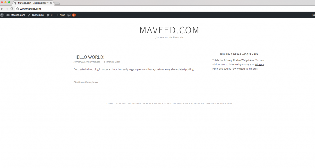 Maveed Front End With Foodie Pro