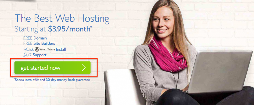 Step 2 Bluehost Get Started