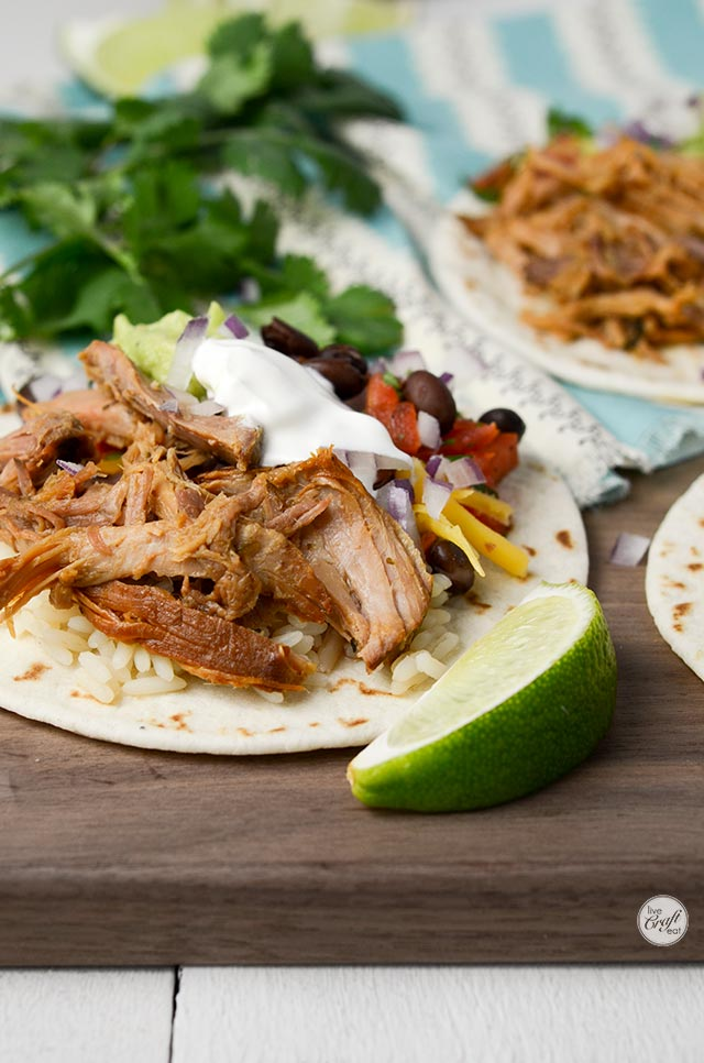 just a few simple ingredients for slow cooker pork tacos