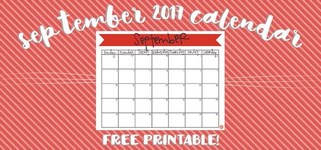 september 2017 calendar :: free printable