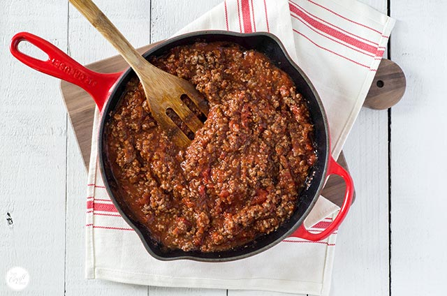 ground beef and marinara sauce
