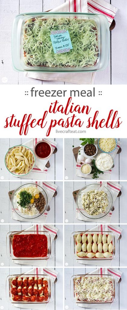 freezer-friendly meal :: italian stuffed pasta shells