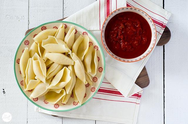 jumbo shells and pasta sauce