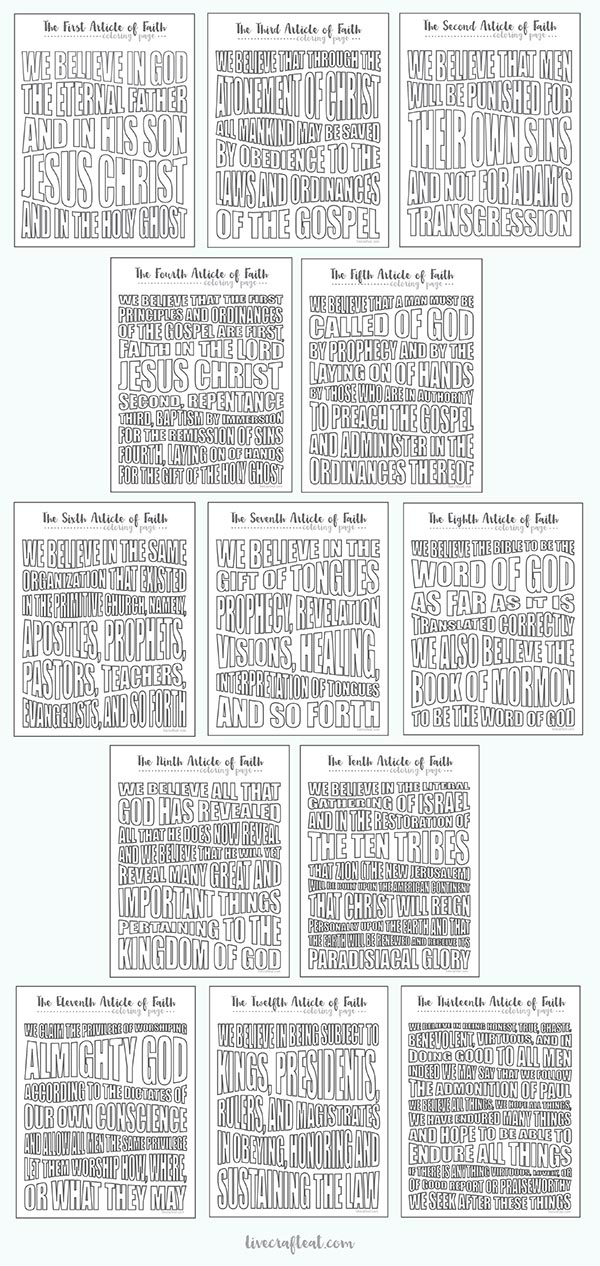 printable coloring pages lds