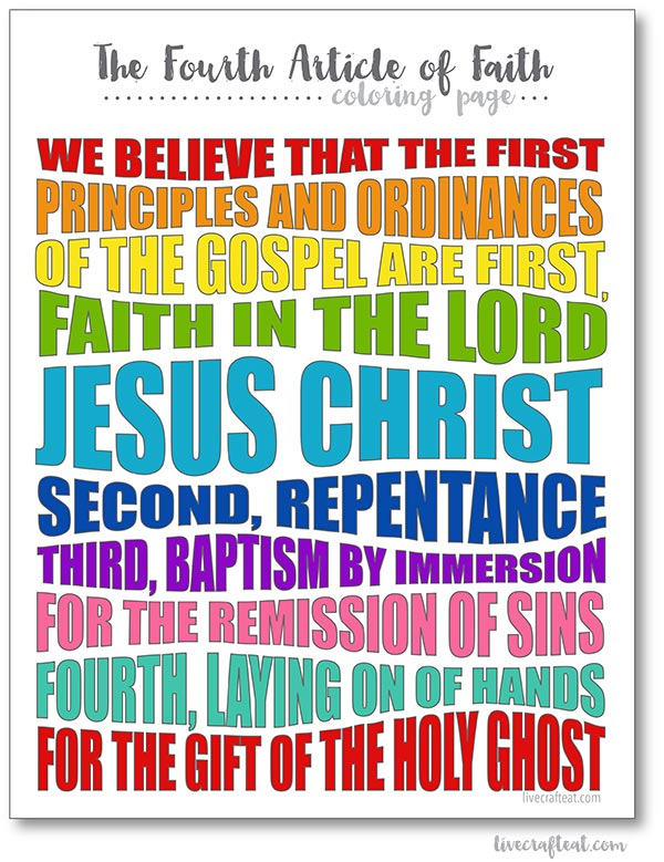 image regarding 13th Article of Faith Printable named LDS Content articles of Religion Coloring Web pages Dwell Craft Take in